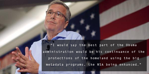 Jeb Bush Quotes Gorgeous Tldr  Jeb Bush Applauds Obama's Surveillance Expansion
